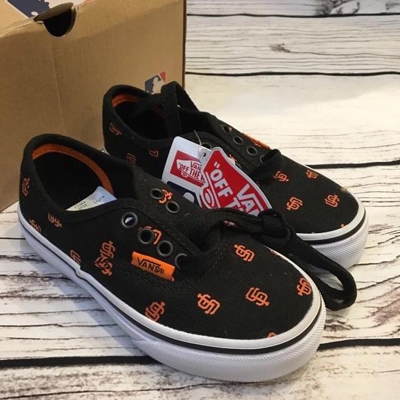 0bc6ef063c VANS SF Giants MLB Shoes Size 10.5 Kids